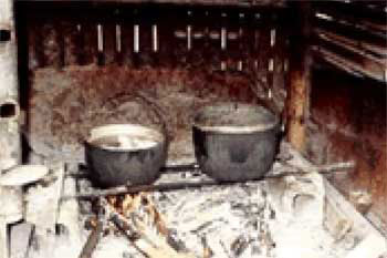 Traditional biofuel cooking methods use 2 tonnes of firewood per year.